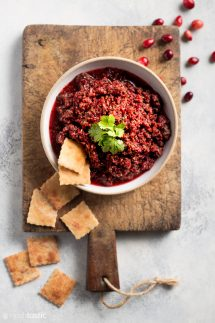 cranberry salsa in bowl