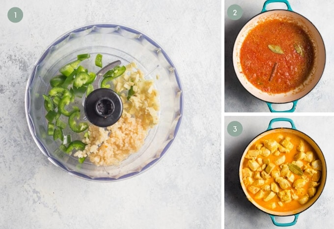 step by step images of how to make keto butter chicken