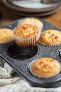 Low Carb Muffins in a baking pan