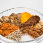 Rasl El Hanout spices in a bowl