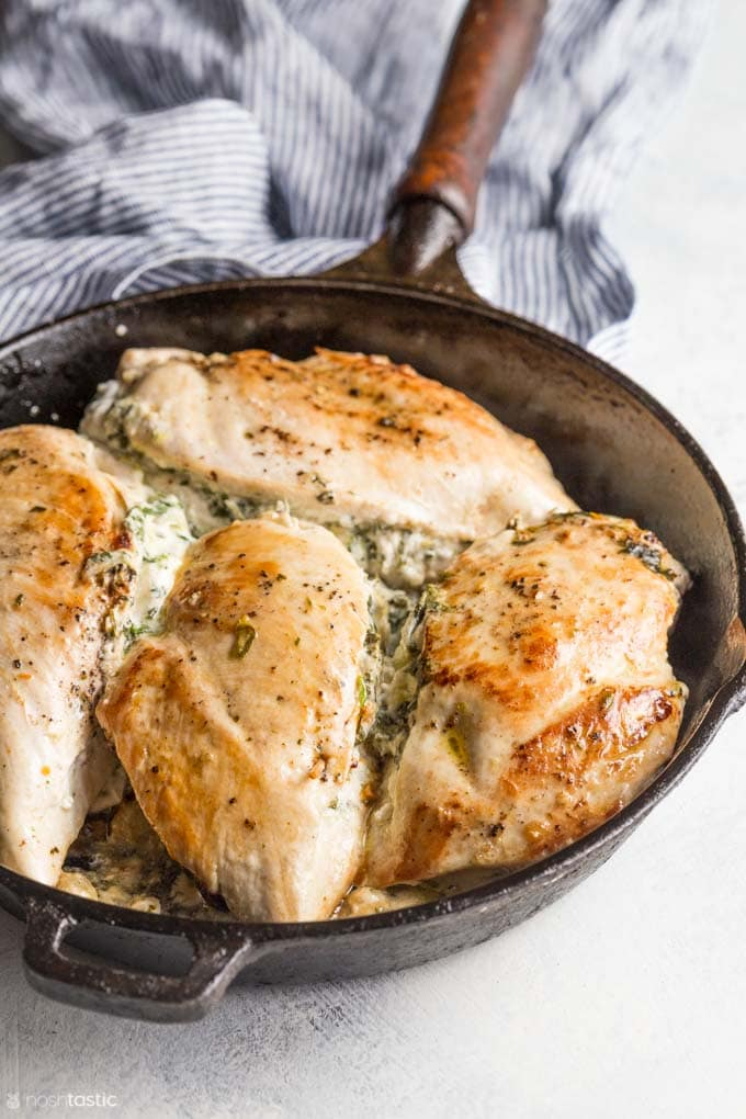 low carb chicken in a skillet