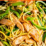 Low Carb Lo Mein Recipe in a skillet