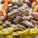 Instant Pot mississippi pot roast on a plate