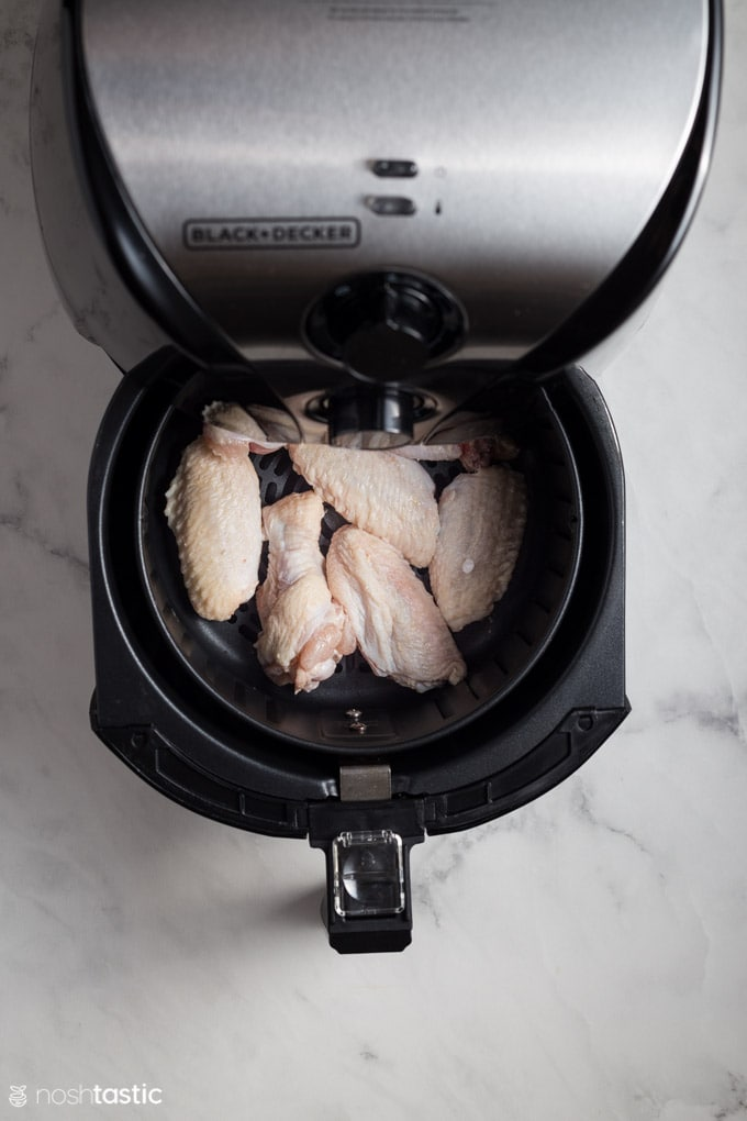 air fryer drawer with chicken wings