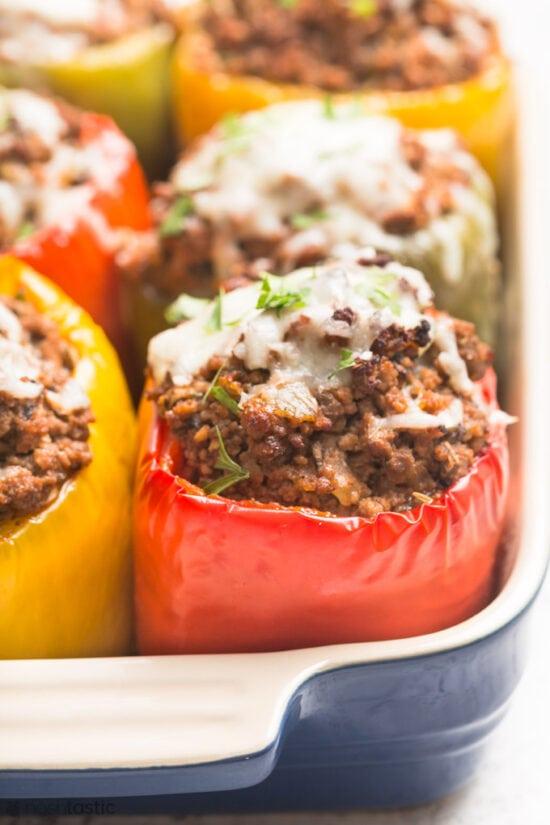 keto stuffed bell peppers recipe