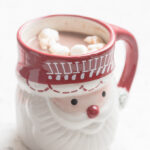 Hot Chocolate with marshmallows in a Santa Mug