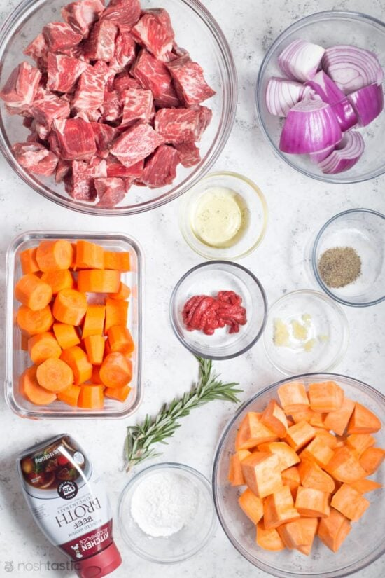 ingredients for instant pot beef stew