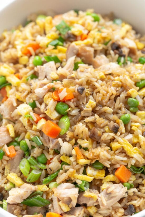 egg fried rice close up
