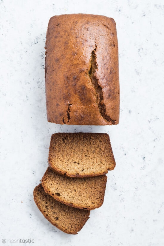 gluten free banana bread with slices