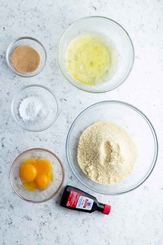 Ingredients for keto pancakes