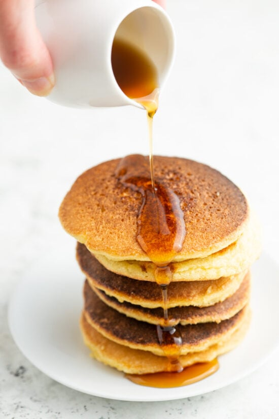 keto pancakes with low carb syrup
