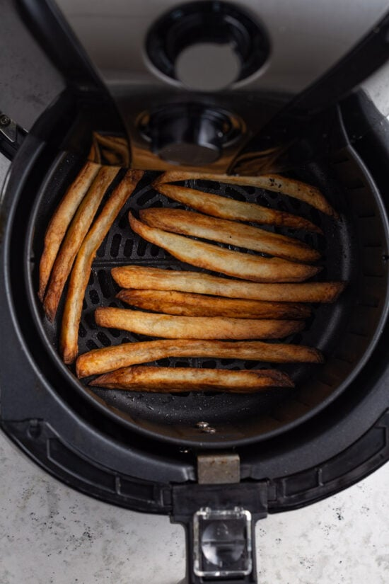 Cooked french fries in air fryer