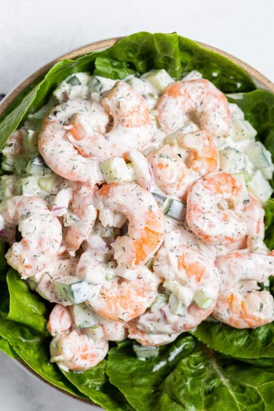 Shrimp Salad on Lettue