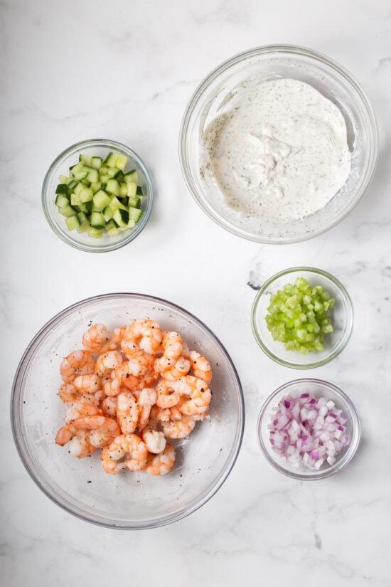 Ingredients for Shrimp Salad